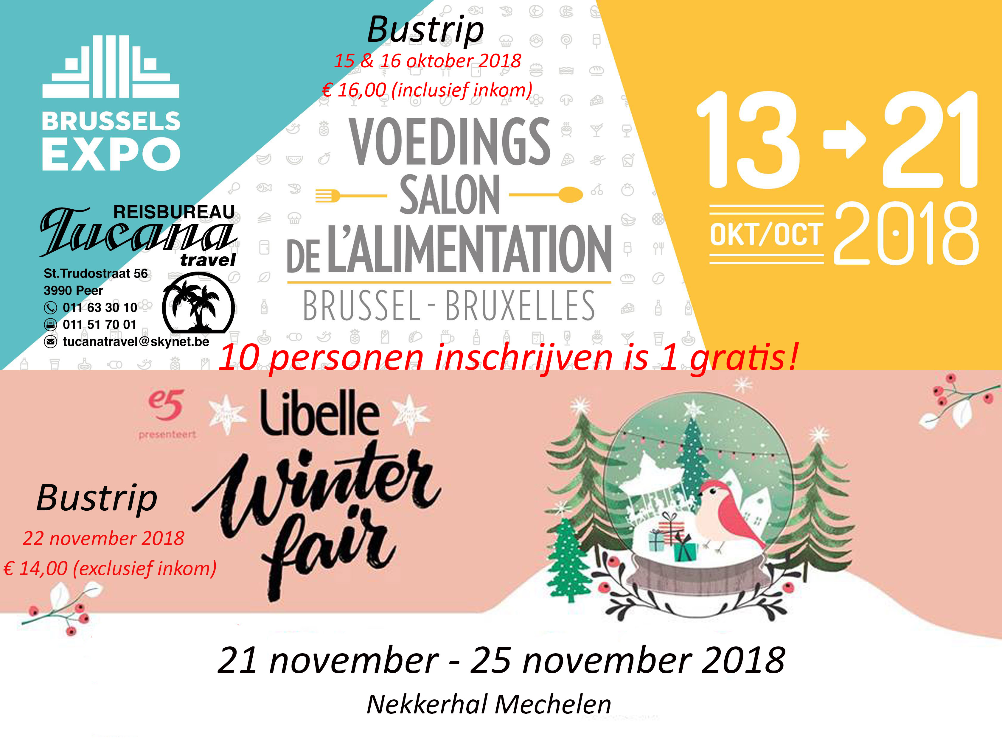 Voedingssalon en Winterfair Tucana Travel 2018