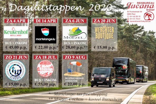 Tucana Travel Daguitstappen 2020